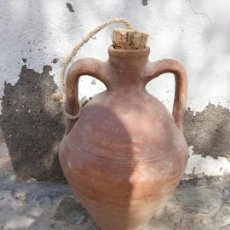 Antigüedades: CÁNTARO PEQUEÑO BARRO CERÁMICA ANTIGUO ALMERIA 35 ALTO. Lote 132615178