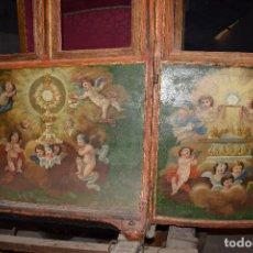 Antiquitäten - Carroza sacramental. Pieza única circa 1570. Espectacular estado de conservación. Pintura original - 132620746