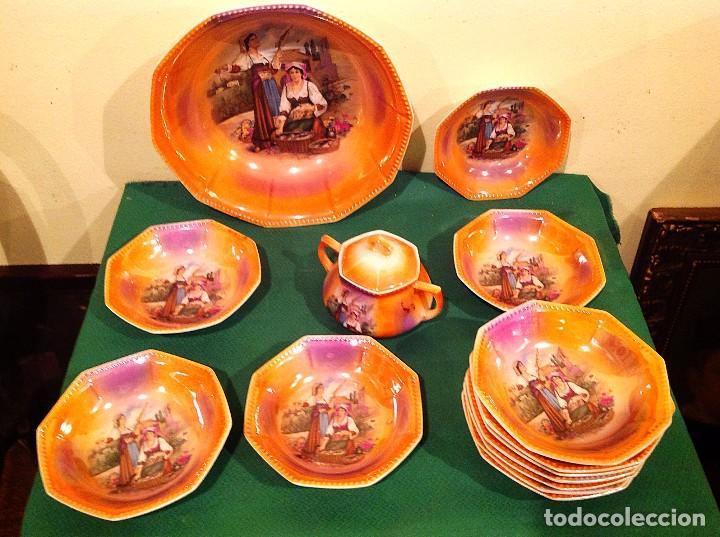 ANTIGUA PORCELANA DE POSTRE MARCA BAVARIA SHUMANN ALEMANIA (Antigüedades - Porcelana y Cerámica - Alemana - Meissen)