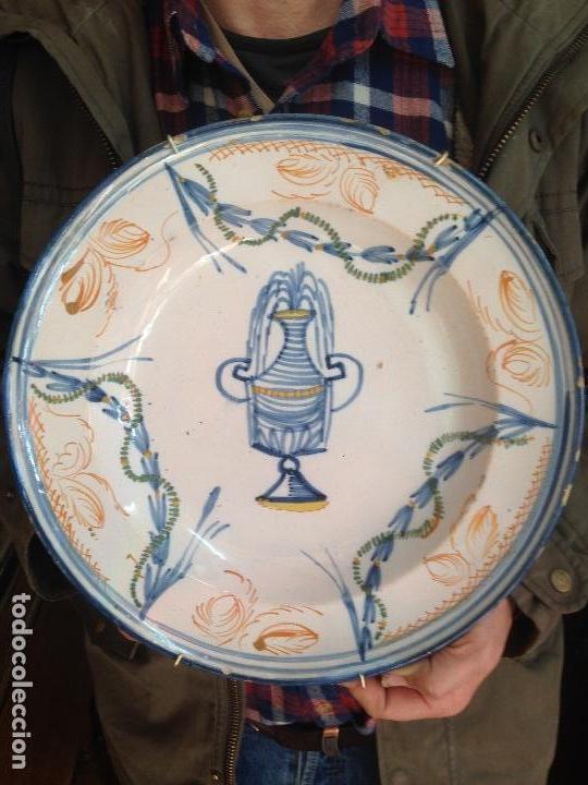 PLATO ANTIGUO DE RIBESALBES (Antigüedades - Hogar y Decoración - Platos Antiguos)
