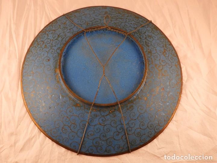 Antigüedades: PRECIOSO PLATO CON ESMALTE CLOISONNE S. XIX - Foto 7 - 132651894