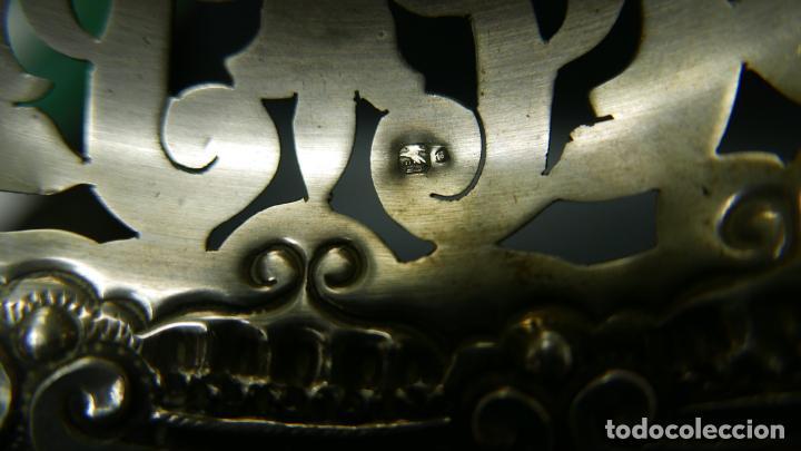 Antigüedades: BANDEJA EN PLATA LEY MARCADO CON CONTRASTE - Foto 2 - 132657110