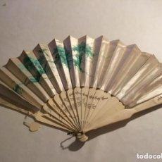 Antigüedades: ABANICO SEDA Y MARFIL/HUESO. SIGLO XIX. Lote 132663878