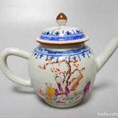 Antigüedades: TETERA EN PORCELANA CHINO CHINA SIGLO XVIII. Lote 132667006
