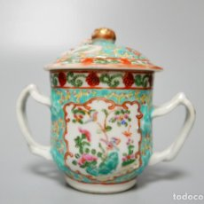 Antigüedades: AZUCARERO EN PORCELANA CHINO CHINA . Lote 132668282