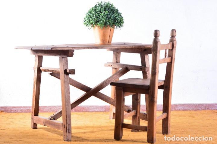 mesa tocinera de madera muy antigua - típica me - Comprar Mesas ...