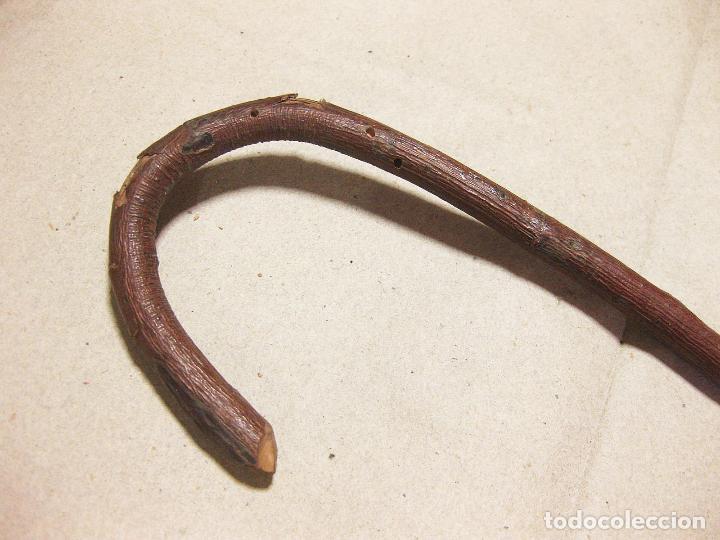 Antigüedades: Bastón antiguo de madera de espino o similar. - Foto 2 - 135221609