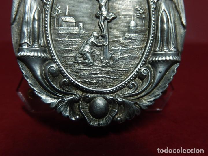 Antigüedades: Relicario de plata. San Alonso Rodríguez. Siglo XIX. 1830. Mallorca. Baleares. - Foto 3 - 132686754