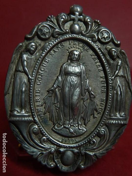 Antigüedades: Relicario de plata. San Alonso Rodríguez. Siglo XIX. 1830. Mallorca. Baleares. - Foto 6 - 132686754