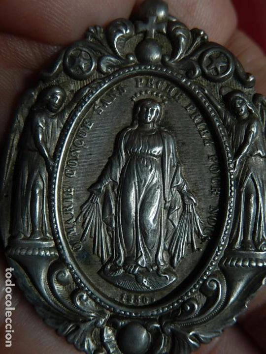 Antigüedades: Relicario de plata. San Alonso Rodríguez. Siglo XIX. 1830. Mallorca. Baleares. - Foto 7 - 132686754