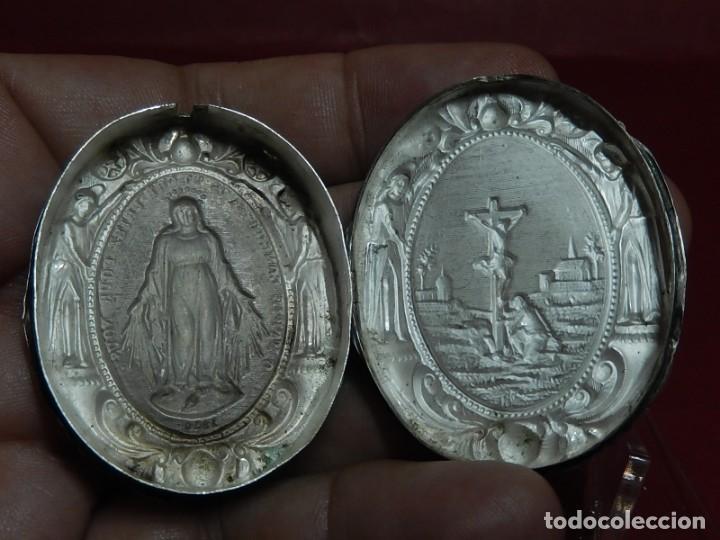 Antigüedades: Relicario de plata. San Alonso Rodríguez. Siglo XIX. 1830. Mallorca. Baleares. - Foto 15 - 132686754