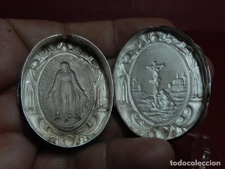 Antigüedades: Relicario de plata. San Alonso Rodríguez. Siglo XIX. 1830. Mallorca. Baleares. - Foto 16 - 132686754