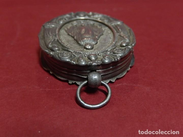 Antigüedades: Relicario de plata. San Alonso Rodríguez. Siglo XIX. 1830. Mallorca. Baleares. - Foto 20 - 132686754