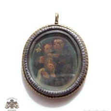 Antigüedades: MEDALLA RELICALIRIO ESPAÑOL COBRE PINTADO SIGLO XVI PERFECTO ESTADO DE CONSERVACIÓN. Lote 132690794