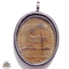 Antigüedades: RELICARIO S. XVII. ESPAÑOL EN FORJA.BENEDICTO XIII DE AVIÑÓN - ACTUALMENTE ES CONSIDERADO ANTIPAPA.. Lote 132690850