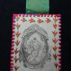 Antigüedades: ESCAPULARIO SAGRADO CORAZON.. Lote 132692726