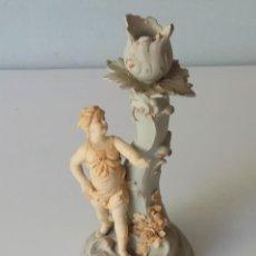 Antigüedades: BELLÍSIMA FIGURA DE PORCELANA BISCUIT, PORCELANA ALEMANA, SIGLO XIX. Lote 132726274
