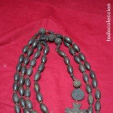 Antigüedades: GRAN ROSARIO CAMERO 145 CM, CONMEMORATIVO BODAS PLATA NUESTRA SEÑORA DE LOURDES. Lote 132735726