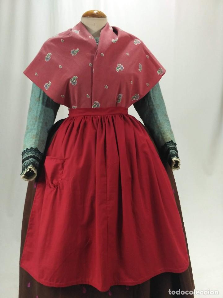 Antigüedades: Delantal de algodón, rojo. - Foto 6 - 132735742