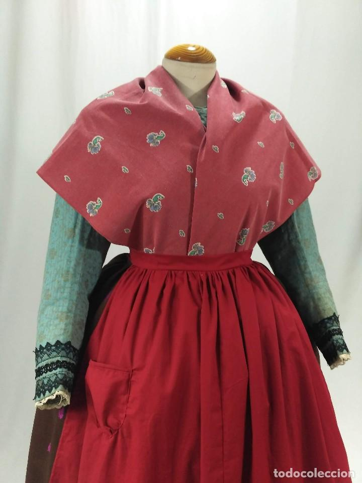 Antigüedades: Delantal de algodón, rojo. - Foto 7 - 132735742