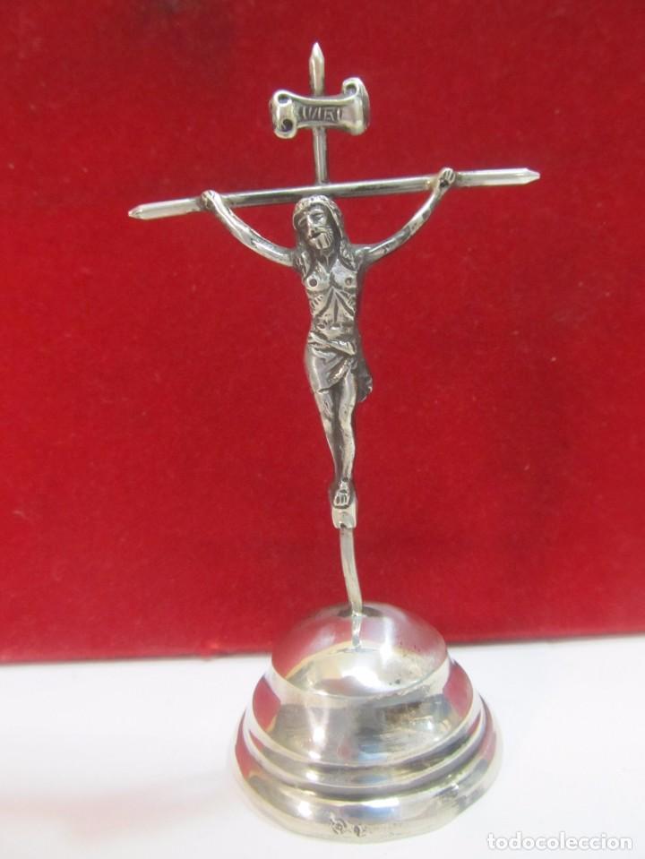 CRUZ DE PLATA - MEDIDA 10 CM. (Antigüedades - Religiosas - Cruces Antiguas)