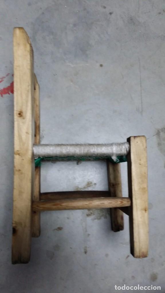 Antigüedades: pequeña silla de madera - Foto 3 - 132740994
