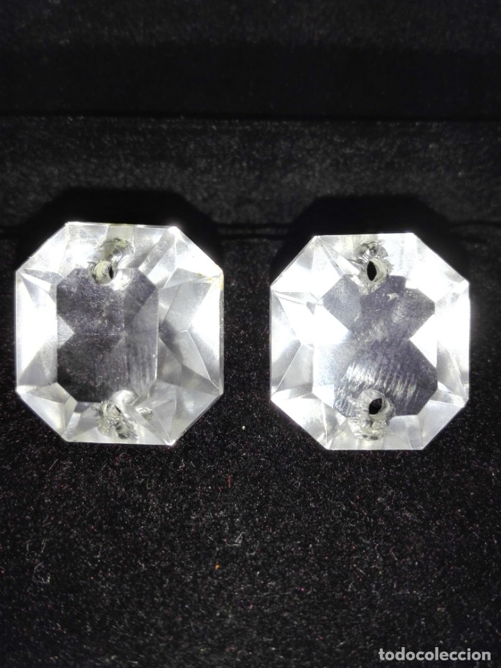 Antigüedades: Dos prismas - CRISTAL TALLADO - LA GRANJA - LAMPARA - ARAÑA - Foto 4 - 132742978