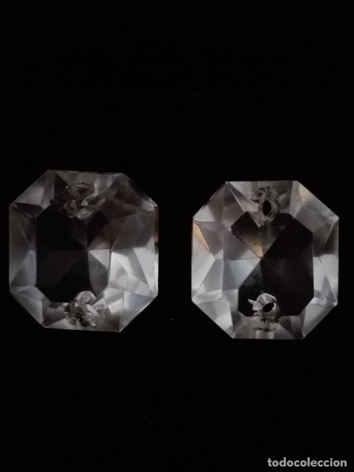Antigüedades: Dos prismas - CRISTAL TALLADO - LA GRANJA - LAMPARA - ARAÑA - Foto 5 - 132742978