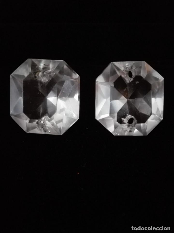 Antigüedades: Dos prismas - CRISTAL TALLADO - LA GRANJA - LAMPARA - ARAÑA - Foto 6 - 132742978