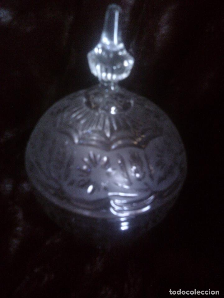 GRAN BOMBONERA - CARAMELERA CRISTAL TALLADO CARTAGENA. MUY EFECTISTA Y DECORATIVA (Antigüedades - Cristal y Vidrio - Santa Lucía de Cartagena)