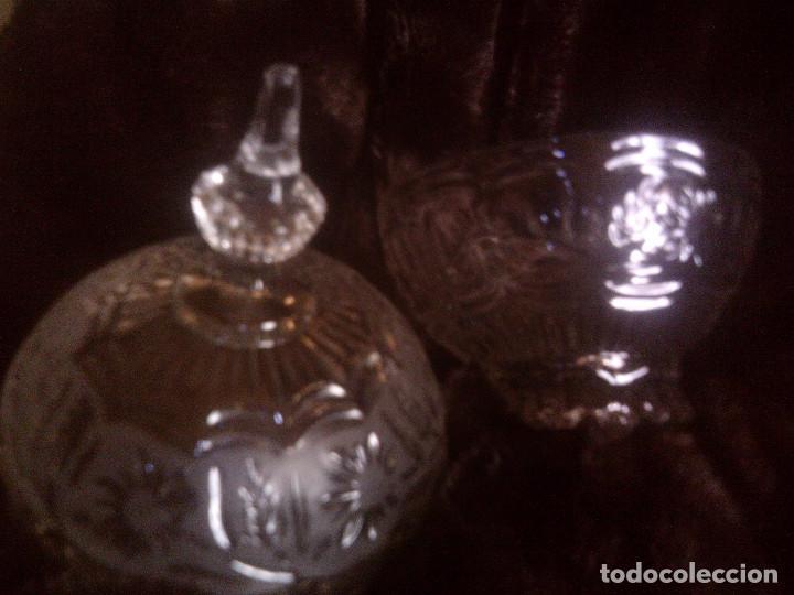 Antigüedades: GRAN BOMBONERA - CARAMELERA CRISTAL TALLADO CARTAGENA. MUY EFECTISTA Y DECORATIVA - Foto 5 - 132762090