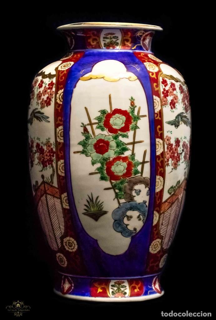 ESPECTACULAR FLORERO IMARI, DE MUY GRAN TAMAÑO, PORCELANA JAPONESA (Antigüedades - Porcelana y Cerámica - Japón)