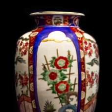 Antigüedades: ESPECTACULAR FLORERO IMARI, DE MUY GRAN TAMAÑO, PORCELANA JAPONESA. Lote 132763746