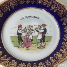 Antigüedades: PRECIOSO PLATO, PORCELANA FRANCESA LIMOGES, SARDANA, SELLADO. Lote 132778814