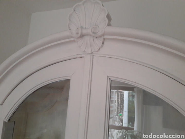 Antigüedades: VITRINA blanca preciosa antigua MADERA maxima calidad pintada a mano - Foto 3 - 132782430