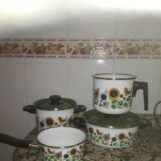 Antigüedades: ALEGRE BATERÍA DE COCINA VINTAGE. Lote 132785823