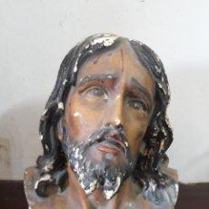 Antigüedades: BUSTO DE ESCAYOLA DENTAL Y POLICROMADO. Lote 132796770