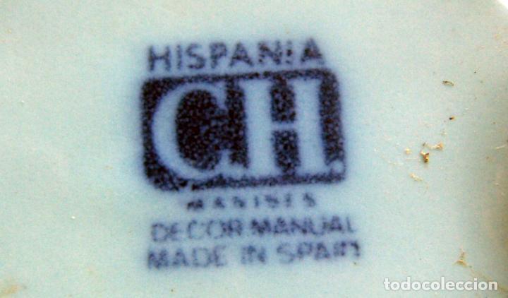 Antigüedades: Tren macetero ceramica de Hispania Manises Decorado a mano - Foto 6 - 132814910