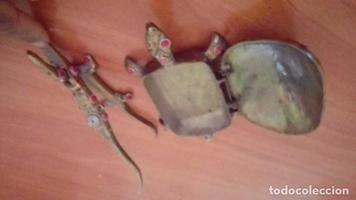 Antigüedades: Vintage tortuga y lagarto en bronce antiguo - Foto 2 - 132822126