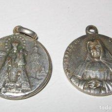 Antigüedades: PAREJA DE MEDALLAS BTZO STA. TERESA DE JESUS JORNET. Lote 132835634