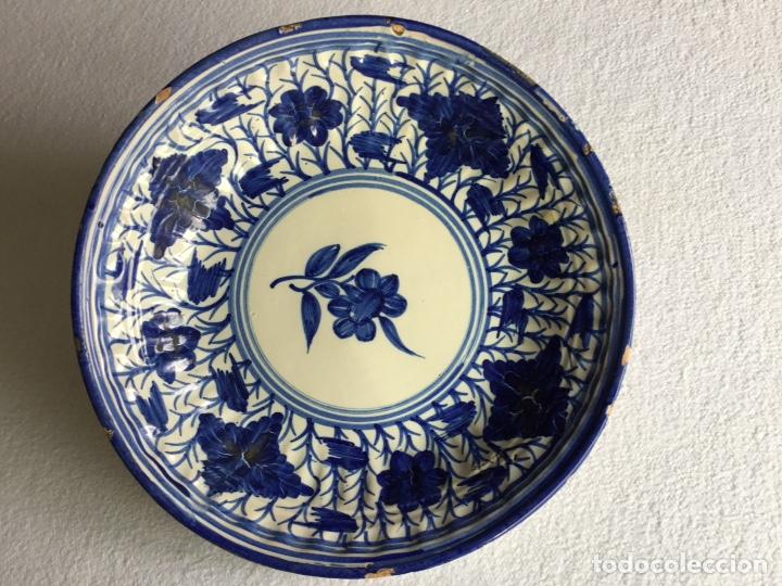 PLATO CERÁMICA ESPAÑOLA. MANISES SIGLO XIX. (Antigüedades - Porcelanas y Cerámicas - Otras)