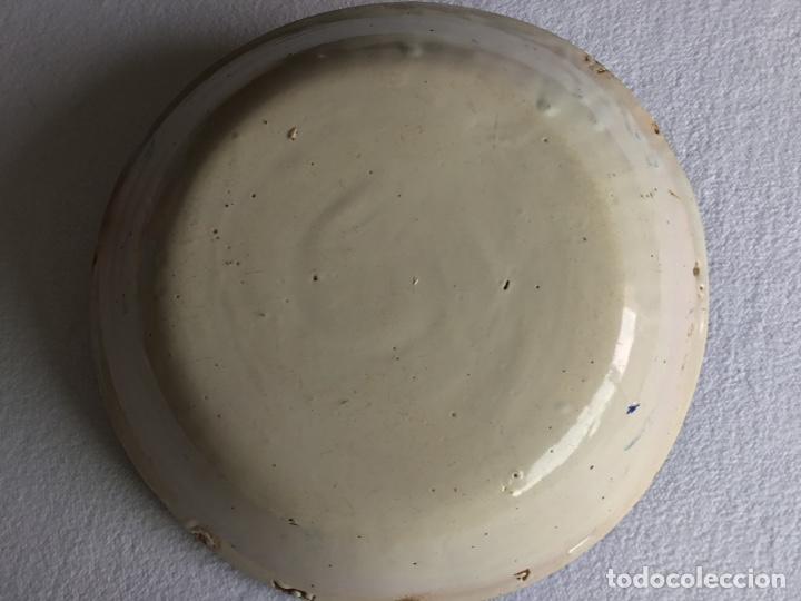 Antigüedades: Plato cerámica española. Manises Siglo XIX. - Foto 2 - 132836301