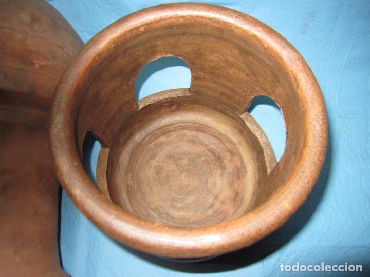 Antigüedades: ANTIGUO BEBEDERO DE BARRO AÑOS 50 PARA PAJAROS PALOMAS O AVES - Foto 3 - 132840710