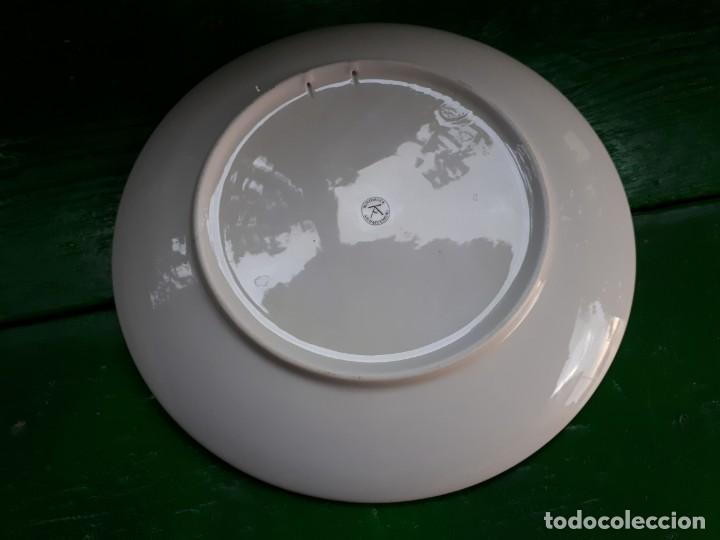Antigüedades: precioso plato con decoracion pajaros - Foto 2 - 132847342