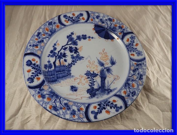 PLATO DE PORCELANA FRANCESA CREIL MONTEREAU (Antigüedades - Porcelana y Cerámica - Francesa - Limoges)