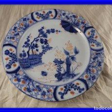 Antigüedades: PLATO DE PORCELANA FRANCESA CREIL MONTEREAU. Lote 132863614