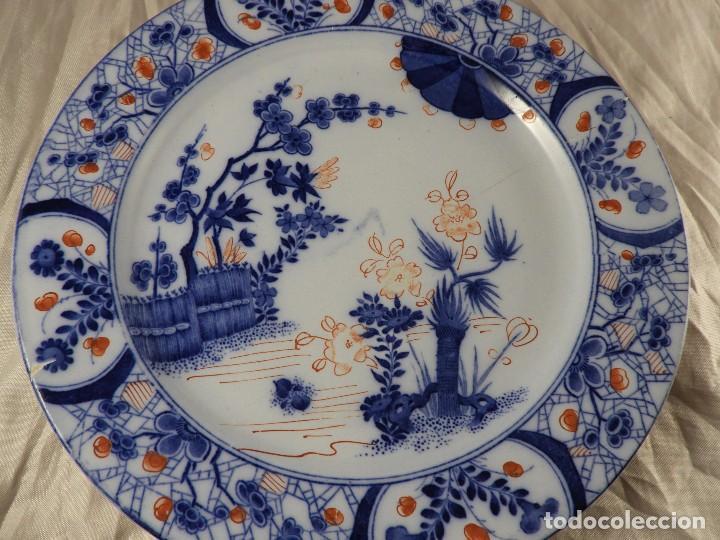 Antigüedades: PLATO DE PORCELANA FRANCESA CREIL MONTEREAU - Foto 2 - 132863614