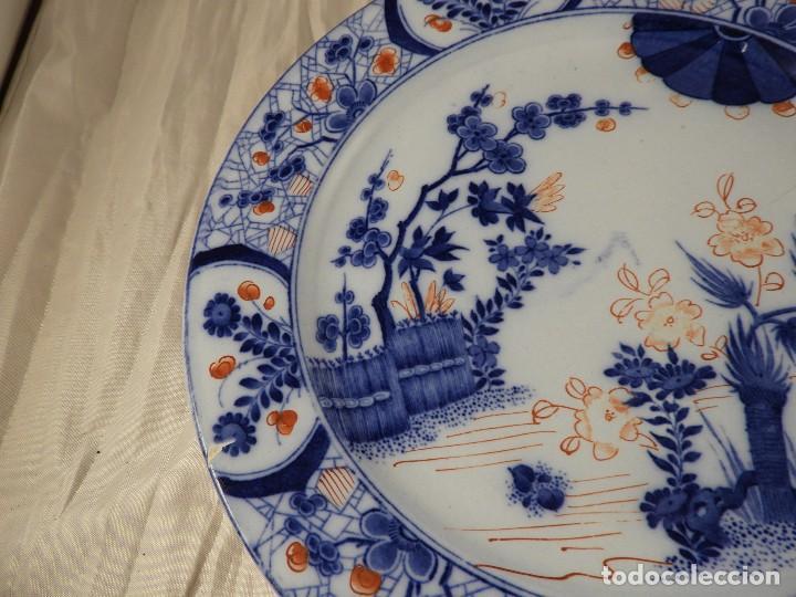Antigüedades: PLATO DE PORCELANA FRANCESA CREIL MONTEREAU - Foto 5 - 132863614