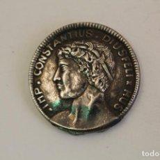 Antigüedades: IMP. CONSTANTIUS DIUSFELI - HUS EN PLATA DE LEY. Lote 143673366