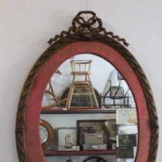 Antigüedades: PRECIOSO MARCO FRANCES DE BRONCE FINALES SIGLO XIX. Lote 132871850